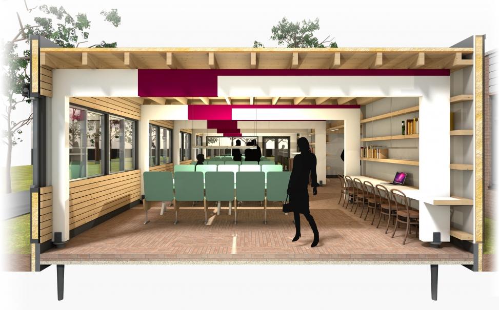 circulair ontwerp uitbreiding Restaurant TiU